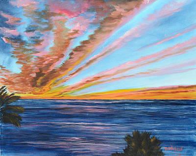 God's Magic On The Key Art Print by Lloyd Dobson