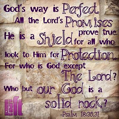 Design Wall Art - Photograph - God's Way Is Perfect. All The by LIFT Women's Ministry designs --by Julie Hurttgam