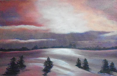 Snowscape Painting - God's Winter Majesty by Patricia Guinn
