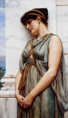 Painted Reveries Digital Art - Godward Grecian Reverie by John William Godward
