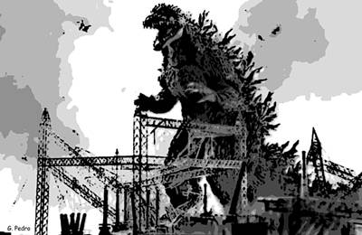 Godzilla Art Print by George Pedro