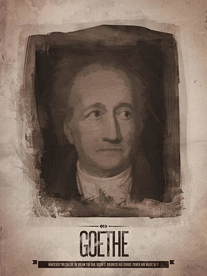 Goethe Art Print by Afterdarkness