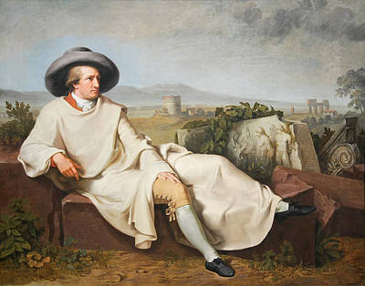 Goethe Painting - Goethe In The Roman Campagna by MotionAge Designs