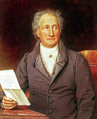 Literature Painting - Goethe by Joseph Carl Stieler