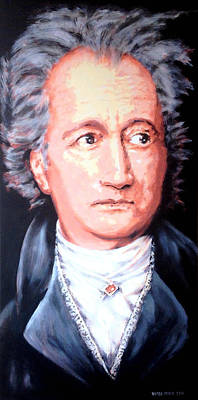 Painting - Goethe by Victor Minca
