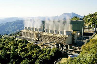 Steam Turbine Wall Art - Photograph - Goethermal Power Plant by Inga Spence