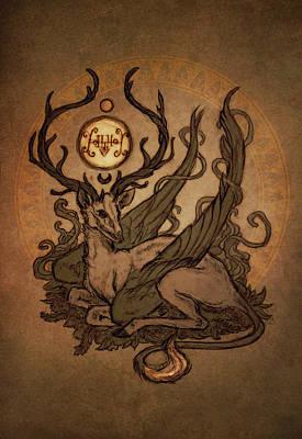 Deers Digital Art - Demons Of Goetia - Furfur by Cambion Art