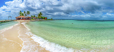 Photograph - Goff's Caye Belize Pano by David Smith