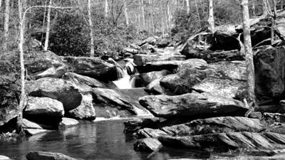 Photograph - Goforth Creek Tn Black And White by Judy Wanamaker