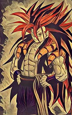 Gogeta Art Print by Aftab Khan