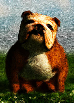 Digital Art - Gogh Dawgs... by Tim Fillingim