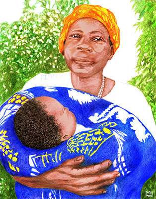 Drawing - Gogo Grandmother by Marilyn Hilliard