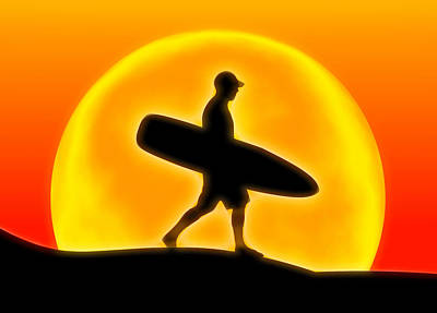 Surf Lifestyle Digital Art - Goin' For A Surf by Andreas Thust