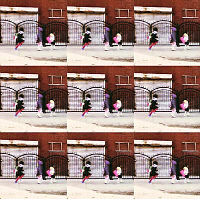Schoolchildren Painting - Goin Home by Keeley Chevrier