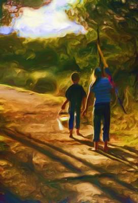 Oregon Coast Painting - Goin To The Beach by Shelley Bain