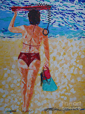 Painting - Going Boogie Boarding by Art Mantia