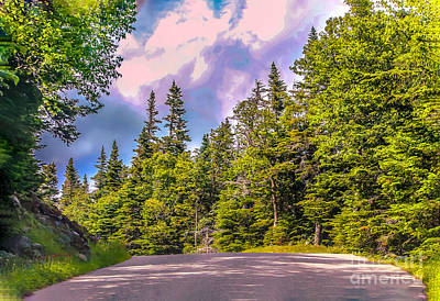 Hdr Landscape Photograph - Going Down The Mountain Road by Claudia M Photography