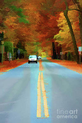 Going Down The Road Art Print by Christine Segalas