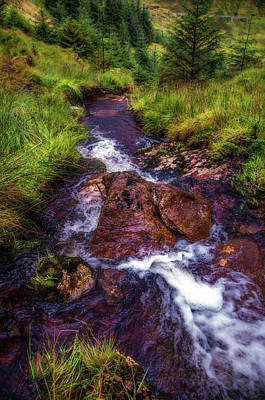 Photograph - Going Down With Stream. Rest And Be Thankful. Scotland by Jenny Rainbow