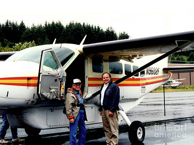 Photograph - Going Fishing In Kodiak Island Alaska - Flying In by Merton Allen