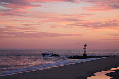 Photograph - Going Fishing Under Pink Skies by Robert Banach