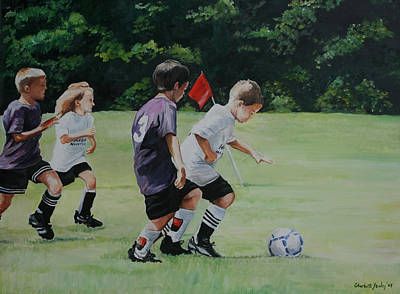 Going For The Goal Art Print