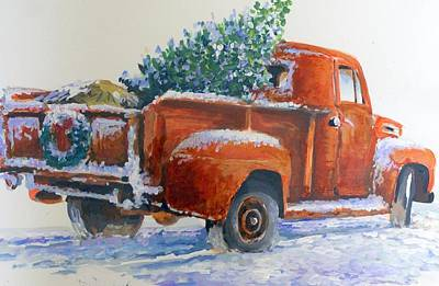 Going Home Forchristmas Art Print by Bob  Adams