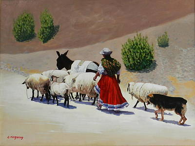 Going Home, Peru Impression Art Print