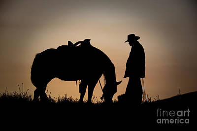 Western Horse Photograph - Going Home by Sandra Bronstein
