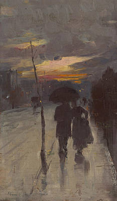 Australian Landscape Painting - Going Home by Tom Roberts