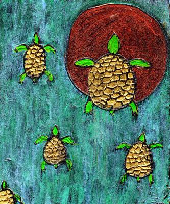 Sea Turtles Painting - Going Home by Wayne Potrafka