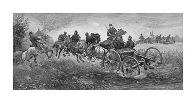 War Horse Drawing - Going Into Battle - Civil War by War Is Hell Store