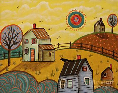 Naive Art Painting - Going North by Karla Gerard