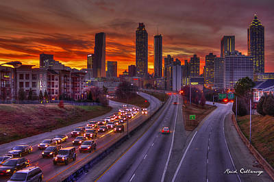 Photograph - Going Nowhere Fast 2 Atlanta Sunset by Reid Callaway