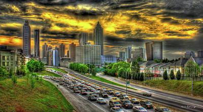 Photograph - Going Nowhere Fast Atlanta Downtown Sunset Art by Reid Callaway
