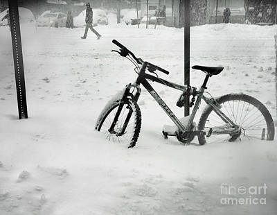 Photograph - Going Nowhere Fast - Winter In New York by Miriam Danar
