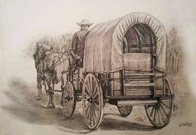 Drawing - Going Shopping by Sheryl Gallant