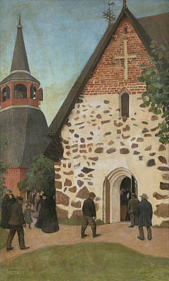 Pekka Wall Art - Painting - Going To Church by Pekka Halonen