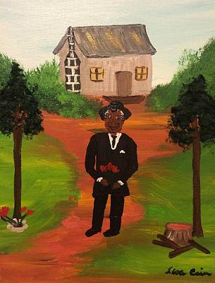 Folk Art Painting - Going To Court Ms Sue by Lisa Cain
