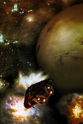 Scifi Mixed Media - Going To Mars by Emma Alvarez