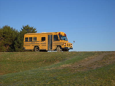 Photograph - Going To School On The Short Bus by Kent Lorentzen