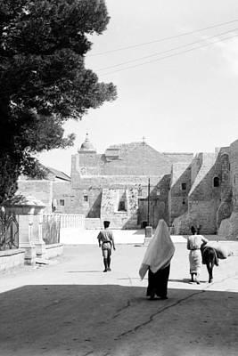 Going To The Church Art Print by Munir Alawi