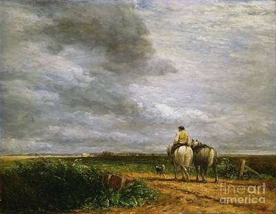 Hayfield Painting - Going To The Hayfield  by MotionAge Designs