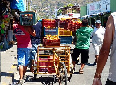 Photograph - Going To The Market by Rosanne Licciardi