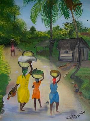Going To The Marketplace 2 Art Print