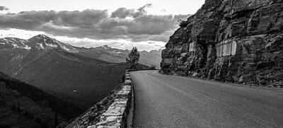 Photograph - Going To The Sun Road Black And White  by John McGraw