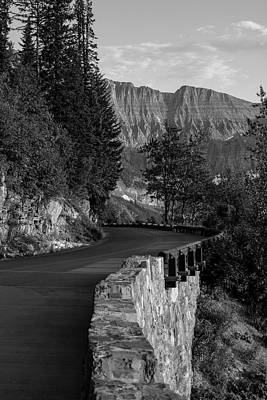 Photograph - Going To The Sun Road Glacier Black And White  by John McGraw