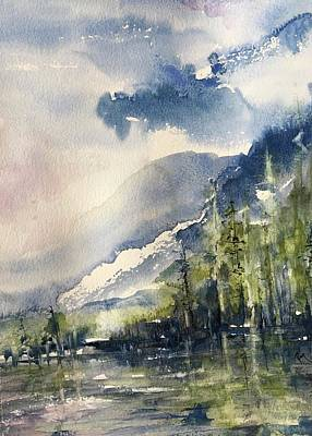 Painting - Going To The Sun Road Glacier National Park Montana by Robin Miller-Bookhout