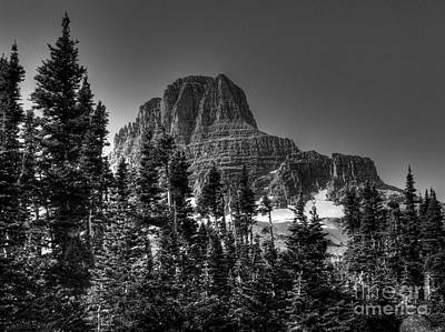 Photograph - Going To The Sun Road In B-w by David Bearden