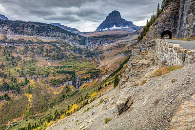 Photograph - Going To The Sun Road In Glacier National Park by Pierre Leclerc Photography
